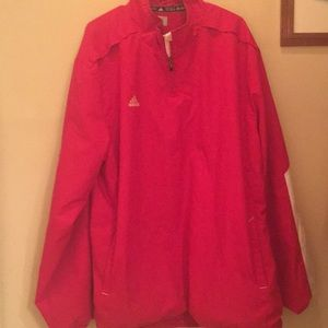 Adidas red pull over